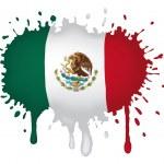 Sketch Mexican flag — Stock Vector #11515167