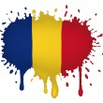 Romania flag sketches — Stock Vector