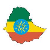 Map flag Ethiopia — Stock Vector