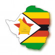 Stock Vector: Map flag Zimbabwe
