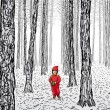 Royalty-Free Stock Vectorielle: Little Red Riding Hood
