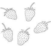 イチゴ — ストックベクタ