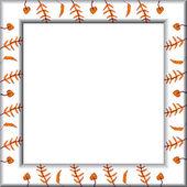 Frame leaves — Stock Vector