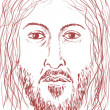 Face of Jesus — Stock Photo