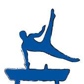 体操選手 — ストックベクタ
