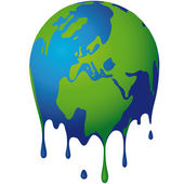 The world dissolves — Stock Vector