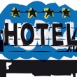 Stock Vector: Hotel sign