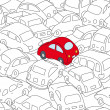 Stock Vector: Car traffic jam