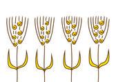 Garip bitkiler — Stok Vektör