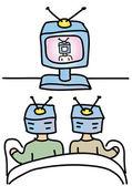 Dívat se na televizi — Stock vektor