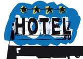 Hotel sign — Stock Vector