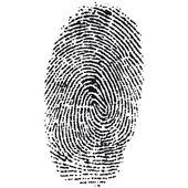 指纹 — 图库矢量图片