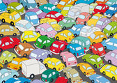 Car traffic jam — Stock Vector