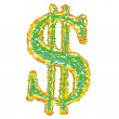 Stock Vector: Us dollar symbol
