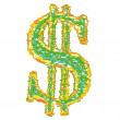 Us dollar symbol — Stock Vector