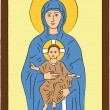Mary and Jesus - Imagen vectorial