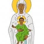 María y Jesús — Vector de stock