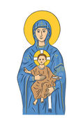 Mary and Jesus — Stockvector