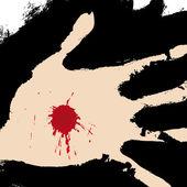 Hand durchbohrt — Stockvektor