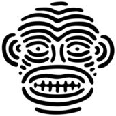 Stilisierte maske — Stockvektor