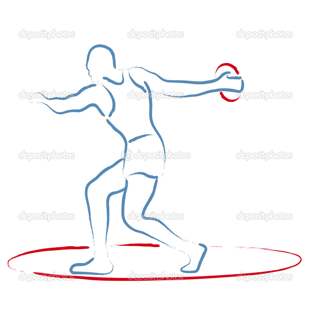 Discus Throw Discus Throw Vector by