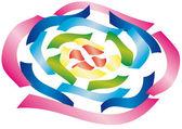 Colored ribbons — Stockvektor