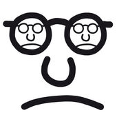 Cara infeliz — Vetor de Stock