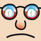 Unhappy face — Stock Vector