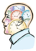 Time in the head — Stock Vector