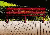 A bench — Stock Vector