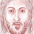 Jesus' face — Stock Photo