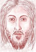 Jesus' face — Stock Photo