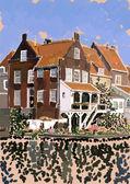 Dutch houses — Stock Photo