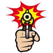 Gun that shoots — Stock Vector