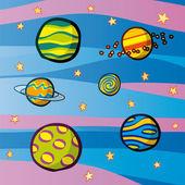 планеты — Cтоковый вектор