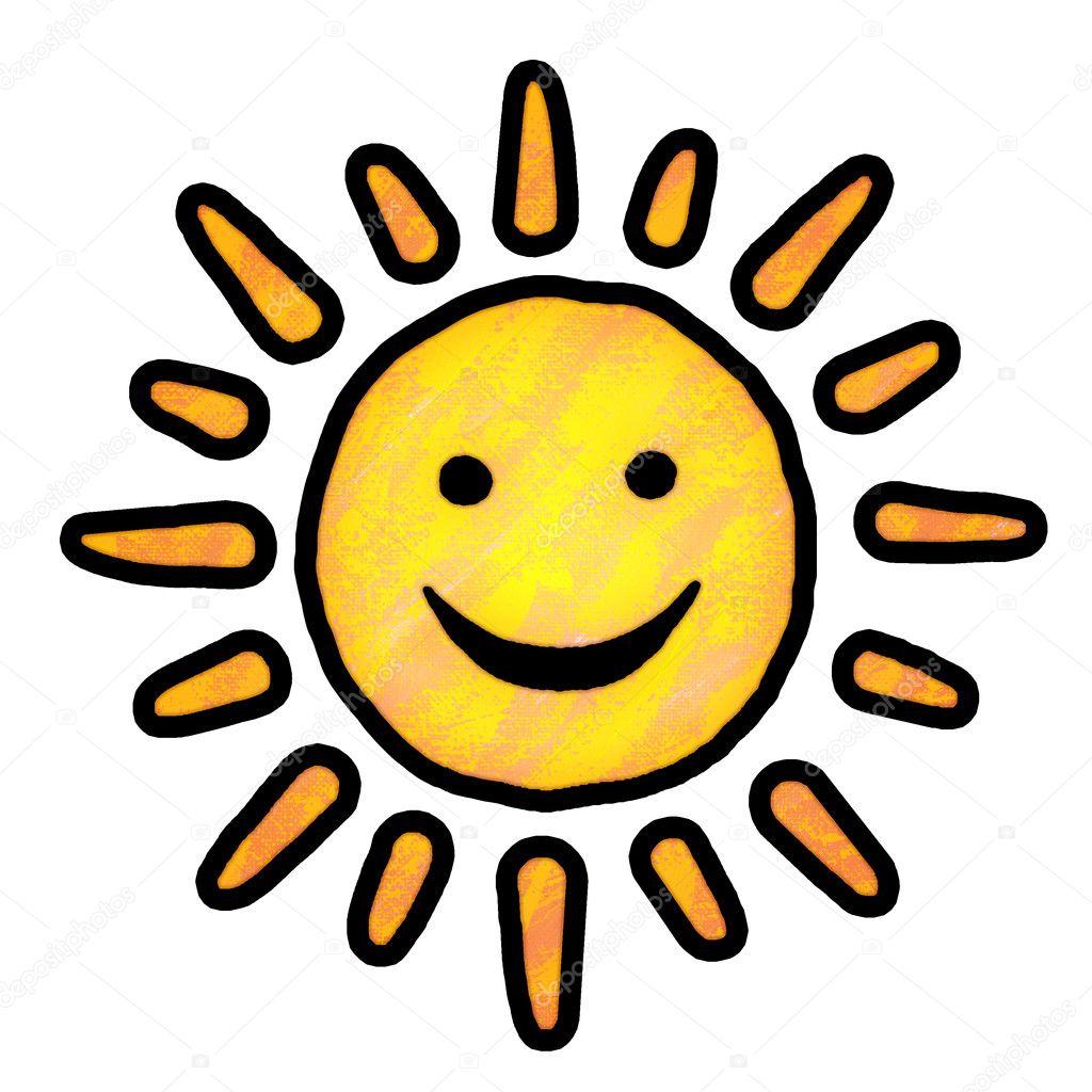 太阳绘画 - 图库图片