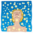 Immersed in the stars — Stock Vector