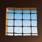Prison window — Stock Vector