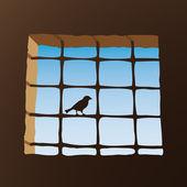 Prison window — Stock Vector