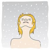 Наблюдая за снег — Cтоковый вектор