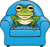 Frog chair — Stock Vector