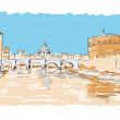 Castel sant'angelo — Stock Vector
