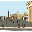 St. Peter's  church - Stock Vector
