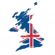 Map flag of the UK — Stock Vector #11970831