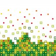 Abstract green pixelated — Stock Vector #11975739