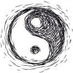 Ying yang symbol — Stock Vector