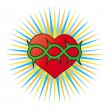 Heart, a Christian symbol — Stock Vector #11976081