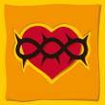 Heart, a Christian symbol — Stock Vector