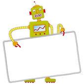 Robot avec signe — Vecteur