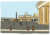 St. Peter's church — Vector de stock